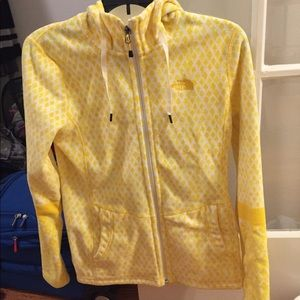Yellow North Face Fleece Jacket size small